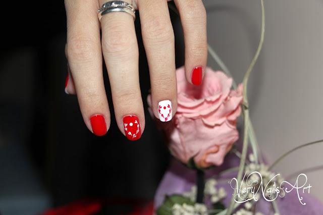Decoración de uñas San Valentin