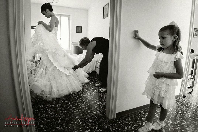 vestizione sposa e damigella matrimonio Alessandria