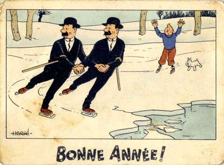 Le Grenier De Pascal Cartes Neige Tintin