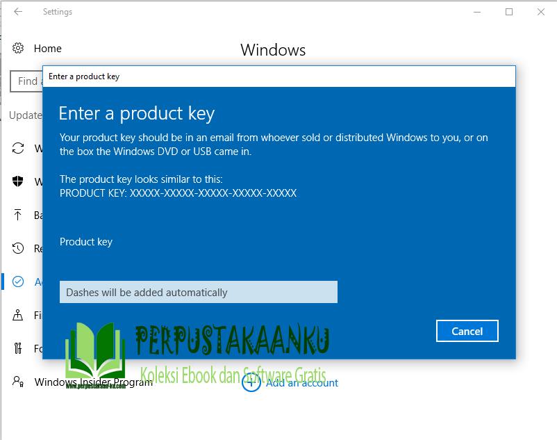 Windows 10 update product key