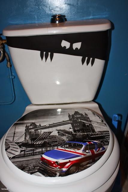 DIY déco d'Halloween cuvet de toilette