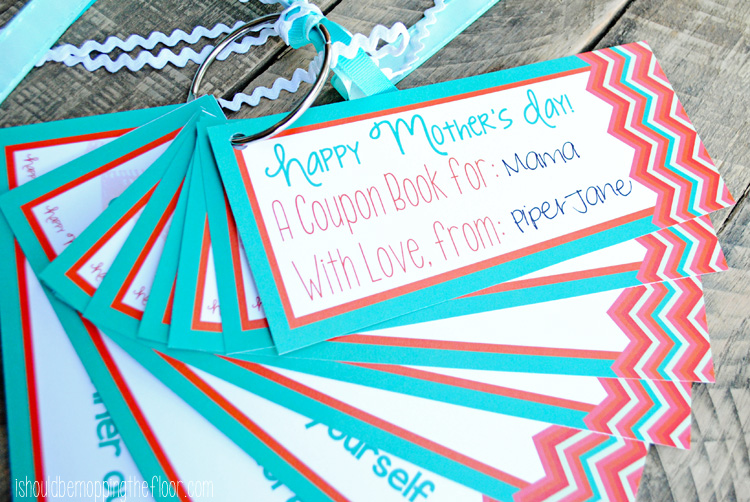 Free Printable Mother's Day Coupon Book #MothersDay