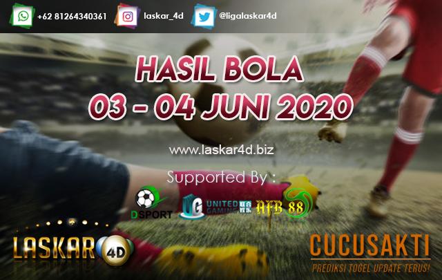 HASIL BOLA JITU TANGGAL 03 – 04 JUNI 2020
