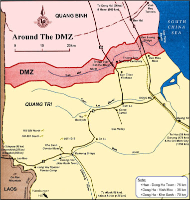 Map of the DMZ in Hue
