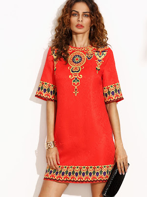 vestidos rojos para niña