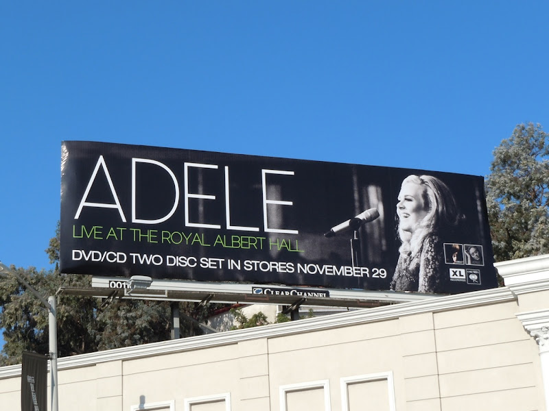 Adele Royal Albert Hall billboard