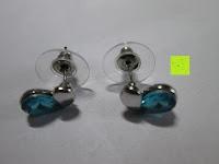Ohrringe mit Verschlüsse: Fashmond Schmuckset Schmuck-Sets eine Ohrringe, ein Armband und eine Halskette Kette mit Anhänger für Frauen Mädchen Blau aus Kristall