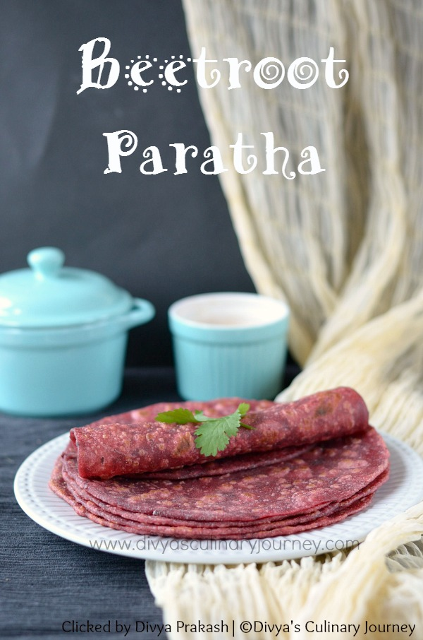 beetroot paratha, paratha with beets