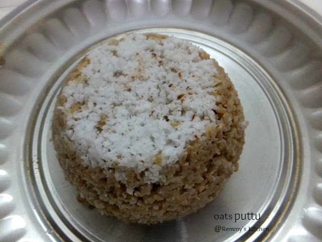 Oats puttu / Steamed oats cake