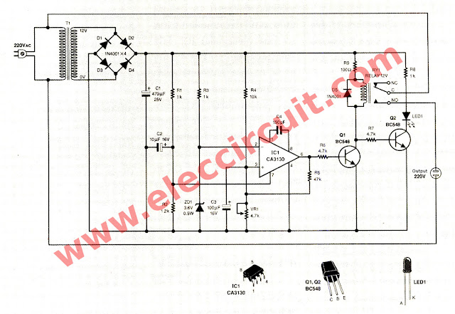 Circuit Schematic Motor Burn Out and Under Voltage