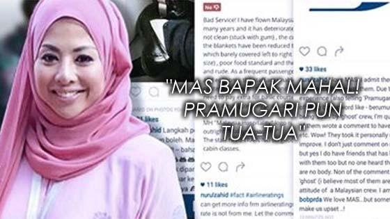 Ikon Belia Negara, Datuk Nurulhidayah Dikecam Kerana Kutuk MAS