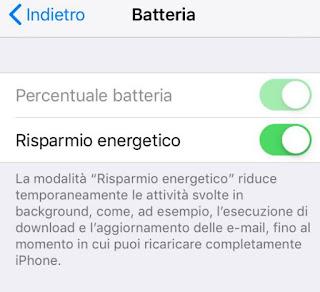 Risparmio iPhone