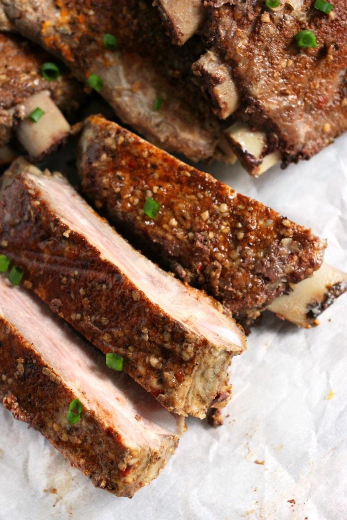 a good spice rub is key for delicious slow baked ribs