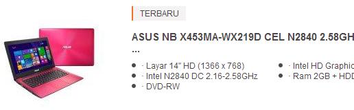 harga laptop asus 4 jutaan