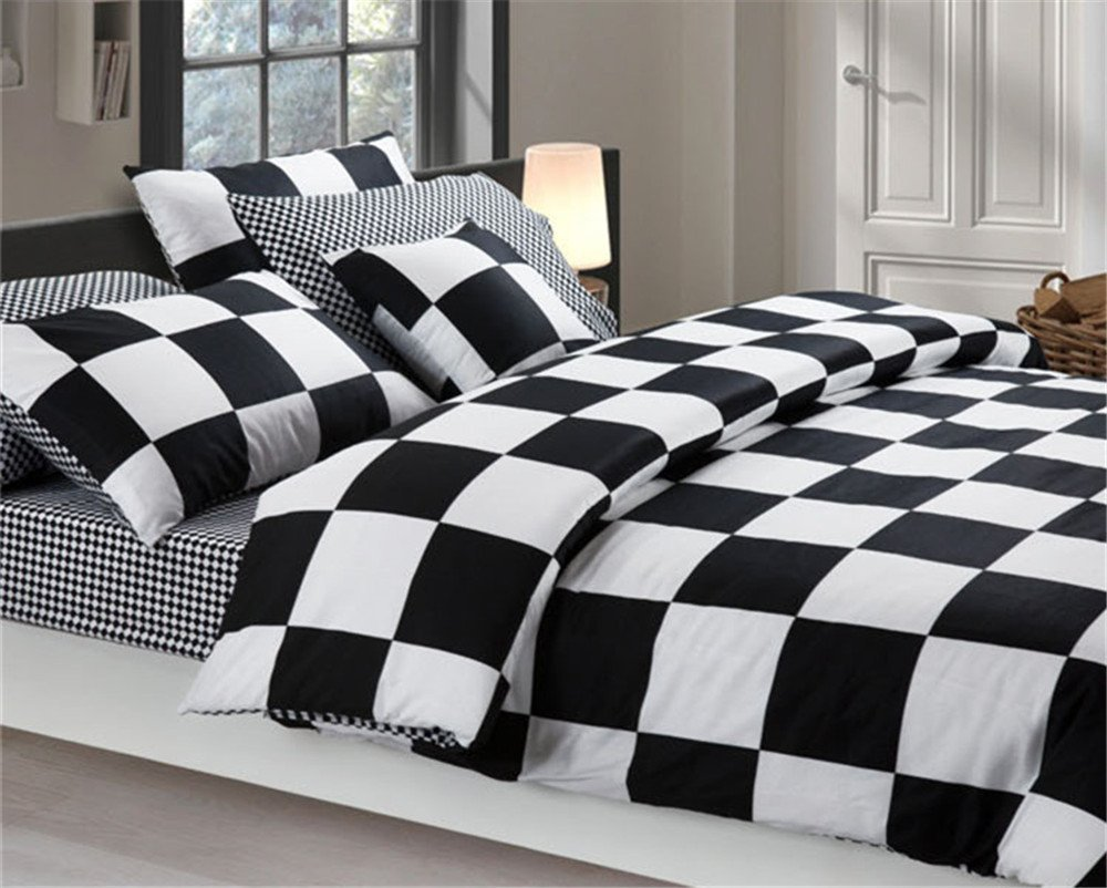 black and white checkered comforters bedding sets. Black Bedroom Furniture Sets. Home Design Ideas