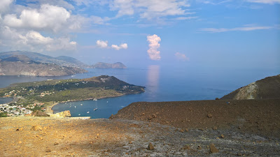Views from the rim of the Gran Cratere of Vulcano.