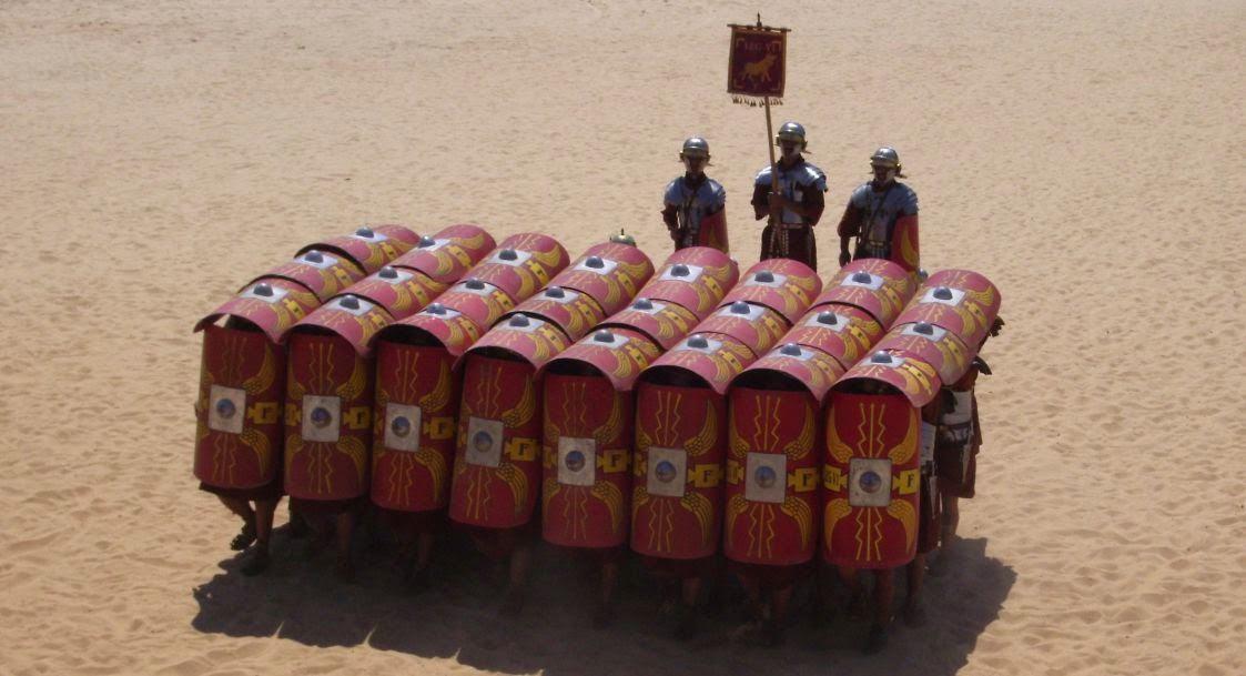Ejercito romano en formacion