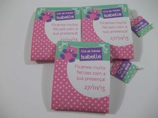 caixa de lenços lembrancinha chá de fralda