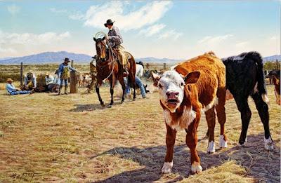 cuadros-con-vaqueros-montados-a-caballo