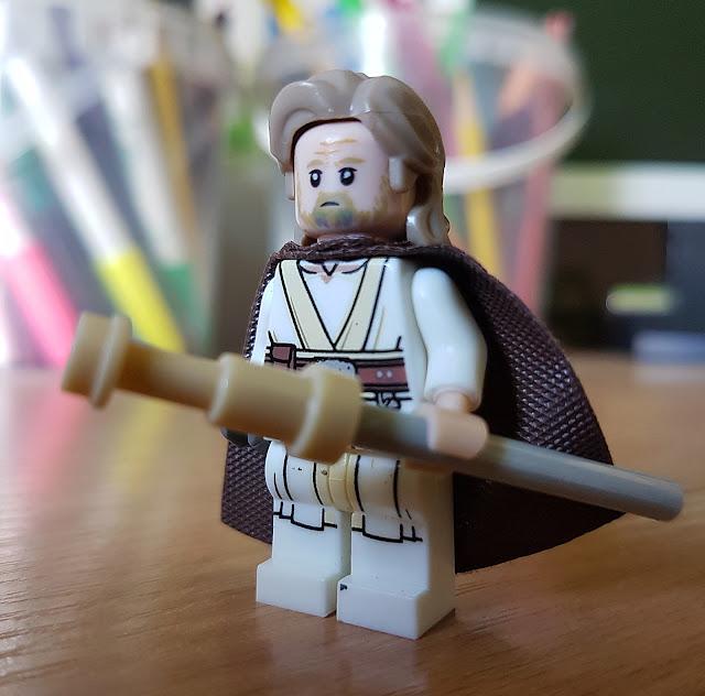 Люк Скайуокер старый, фигурка лего, Последние джедаи, Звездные войны