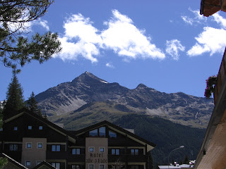 The mountain backdrop to Santa Caterina