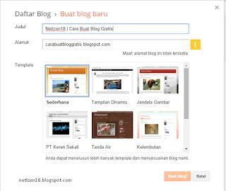 cara membuat blog website