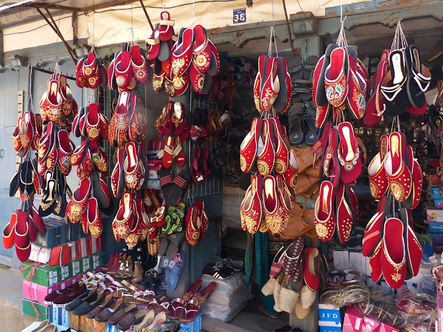 Ethnic shoes on sale in Bhaktapur, Nepal