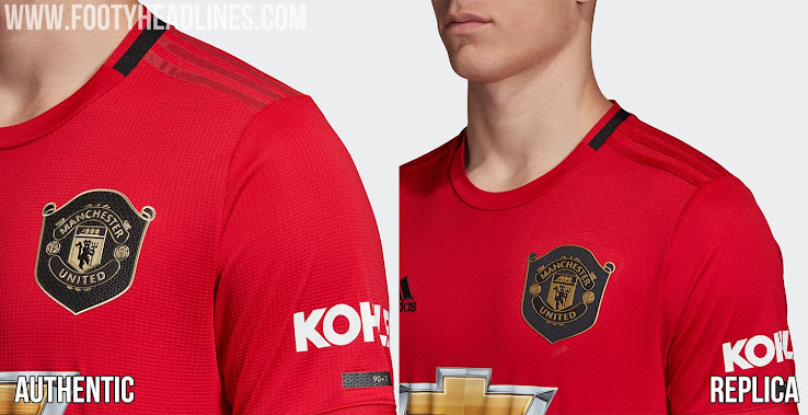 quality design 00f02 f750b Replica Looks Cheap... Adidas Manchester United 19-20 Home ...