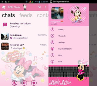 BBM MOD Windows Phone Minnie Mouse v3.0.1.25 APK Terbaru