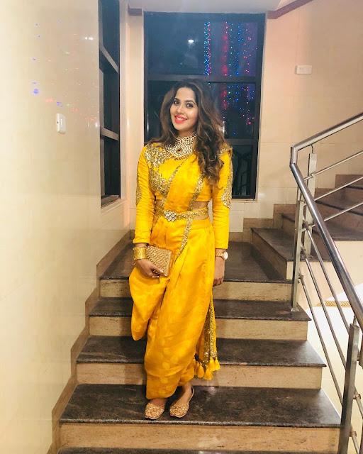 Full Sleeves Blouse with Dhoti saree drape