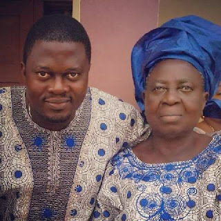 actor Muyiwa Ademola and his mother