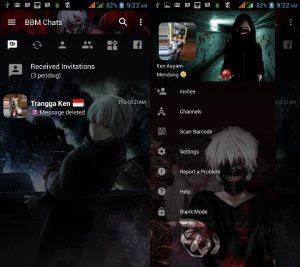BBM Mod Tema Anime Tokyo Ghoul v3.3.0.16 Apk Versi Terbaru