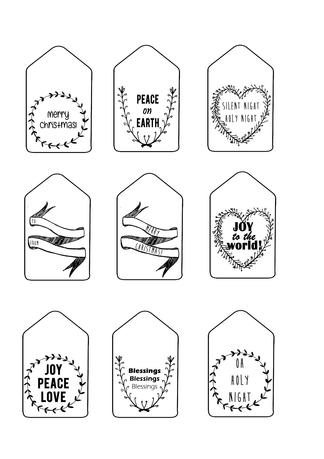 Sew & Such: Free Printable: Christmas gift tags (English
