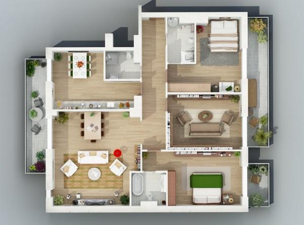 & Rumah Minimalis dengan 3 Kamar Tidur - BERBAGI
