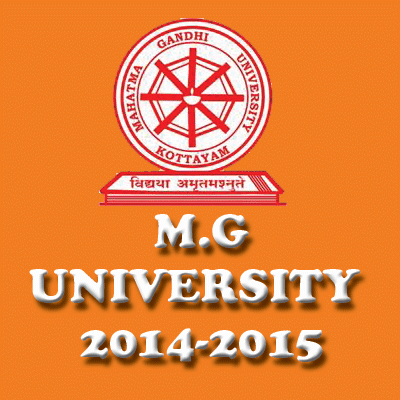 MG University, Admission ,Degree admission 2014, MG admission