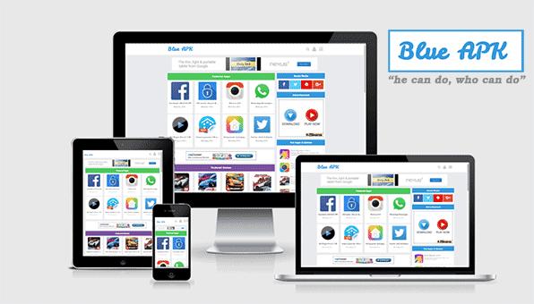 Blue APK: Template Blog Download Aplikasi