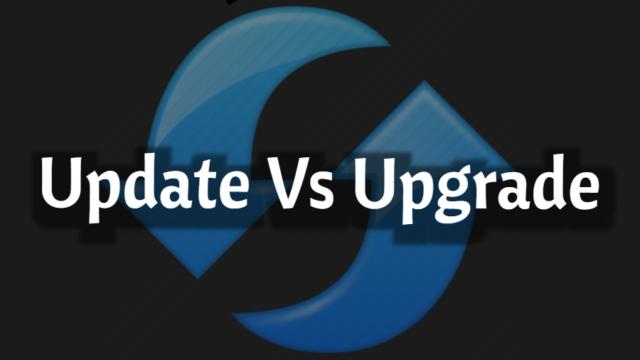 que diferencia hay entre update y upgrade