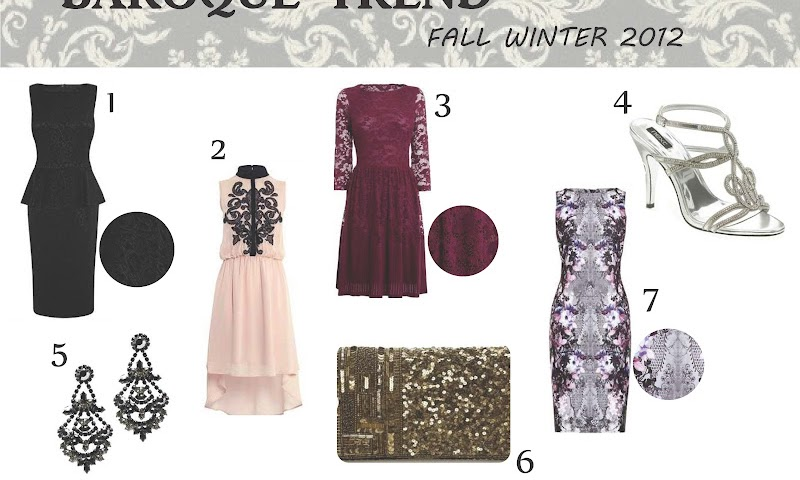 women's fashion trend fw 2012 : baroque