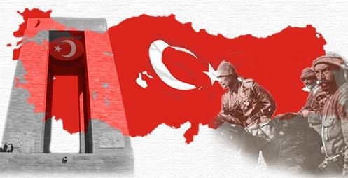 18 Mart Çanakkale Zaferi Destanı Heykel Anıt ve Atatürk Resimi