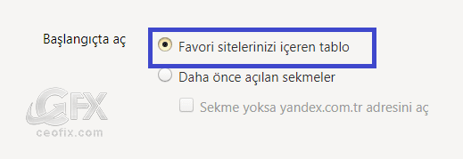 yandex browser favori sitenizi içeren tablo