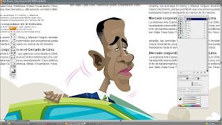 Obama caricatura por CANAM
