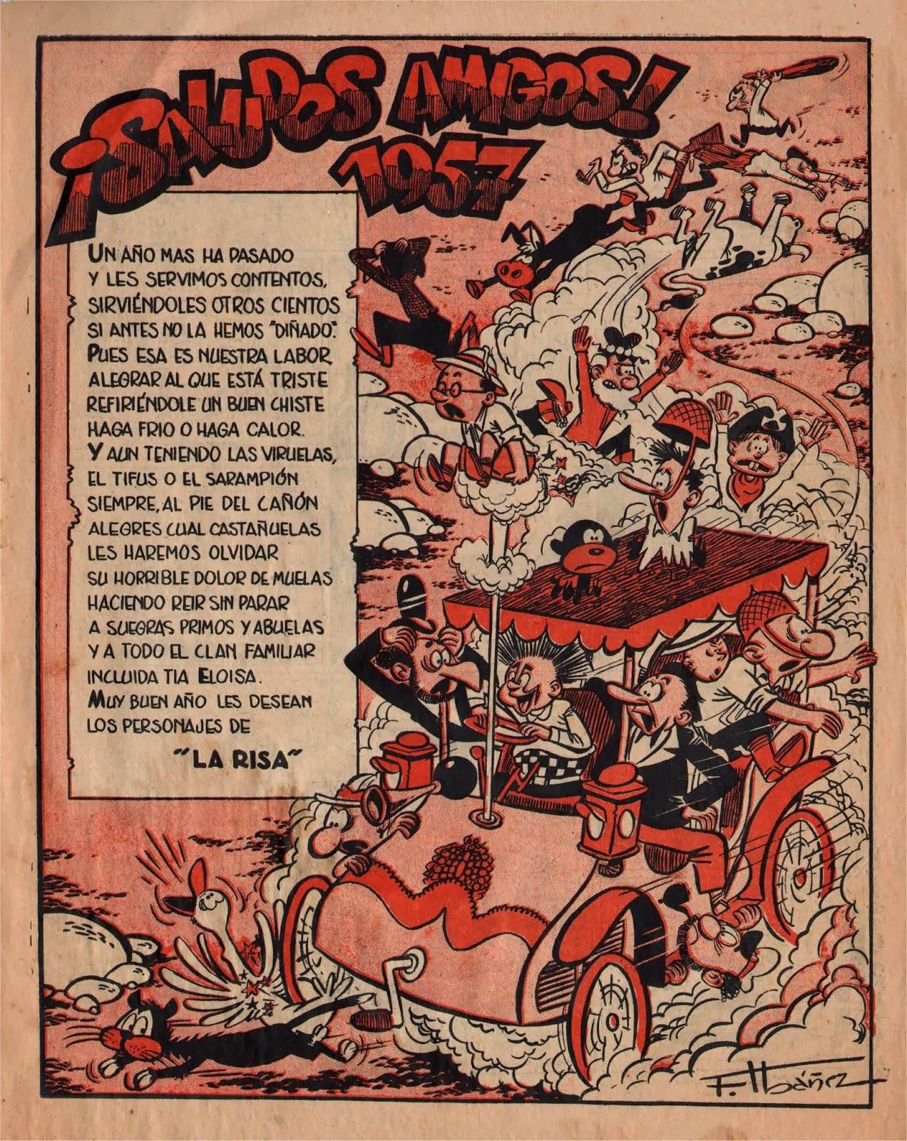Ilustración con personajes de la Risa, Almanaque 1957