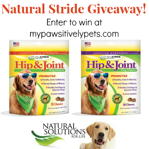 #NaturalStride dog joint supplement giveaway