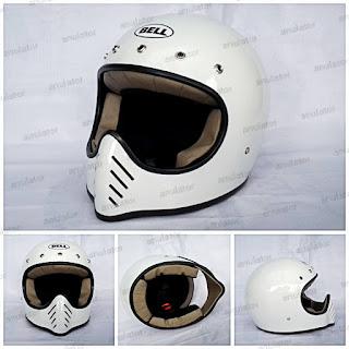Helm Cakil Replika Bell Moto 3 PUTIH KAPAS /WHITE