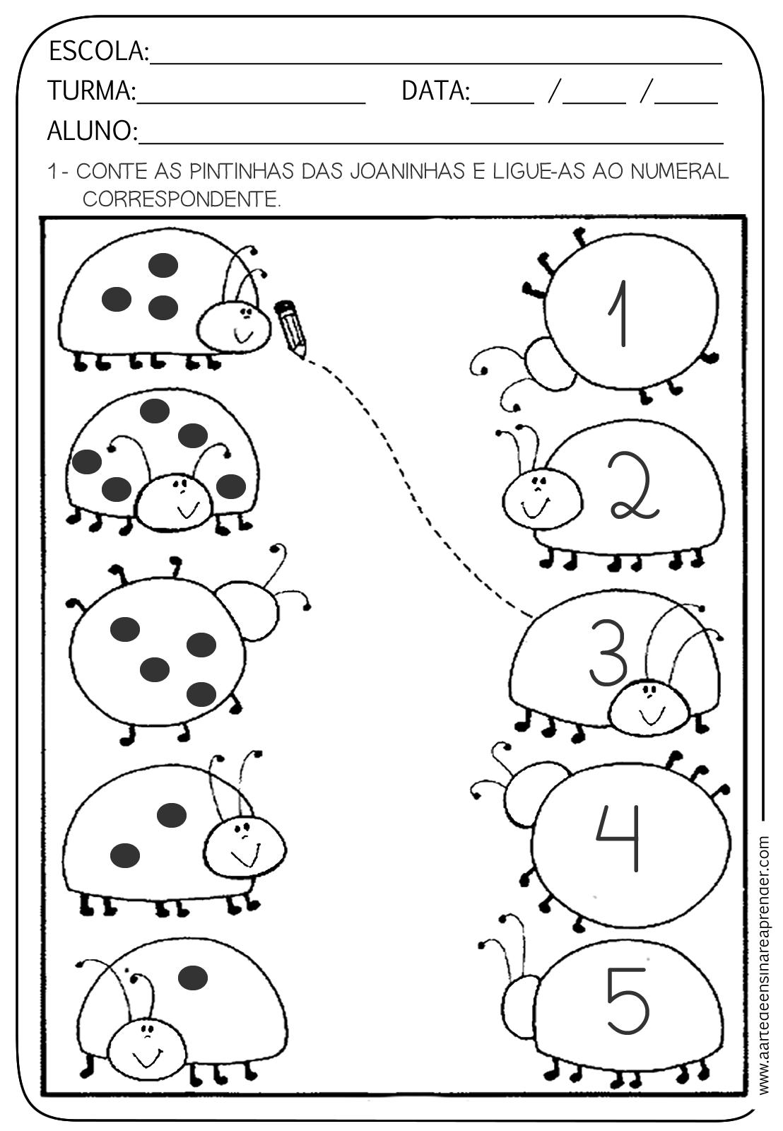 Atividade Pronta Número E Numeral A Arte De Ensinar E Aprender