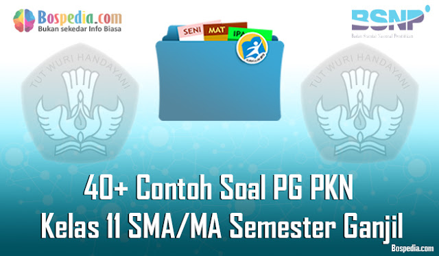 40+ Contoh Soal PG PKN Kelas 11 SMA/MA Semester Ganjil Terbaru