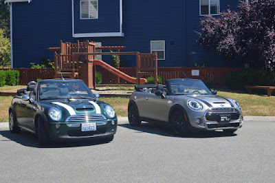 Our 2006 MINI Next to its 2016 Replacement