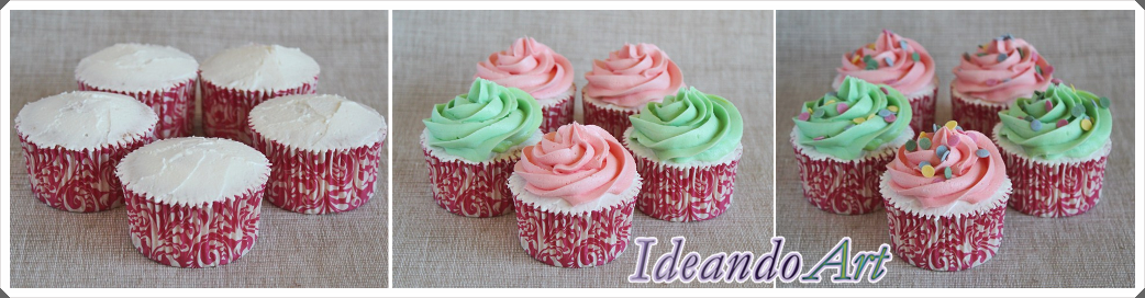 Decorando cupcakes