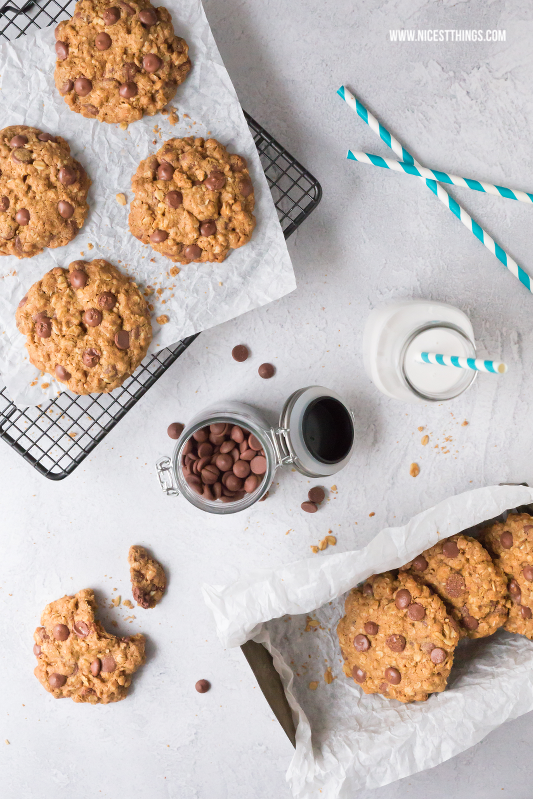 gesunde Chocolate Chip Cookies vegan