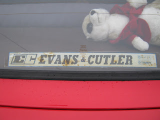 Evans and Cutler of Totnes Triumph car dealer window sticker